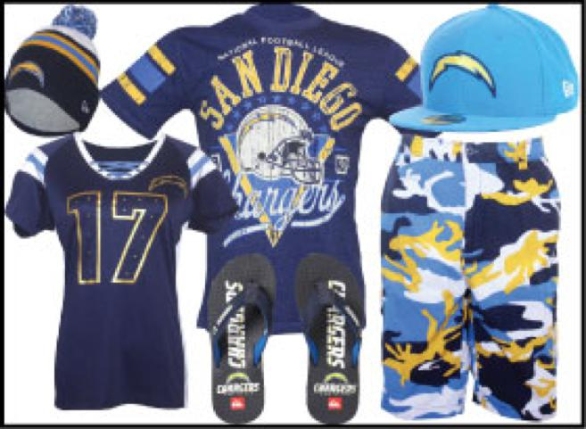 SAN DIEGO CHARGERS PRODUCTS