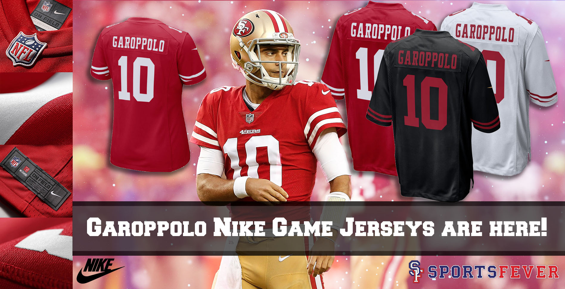 quality design f9952 64149 NFL - San Francisco 49ers - Jimmy Garopollo - Sports Fever